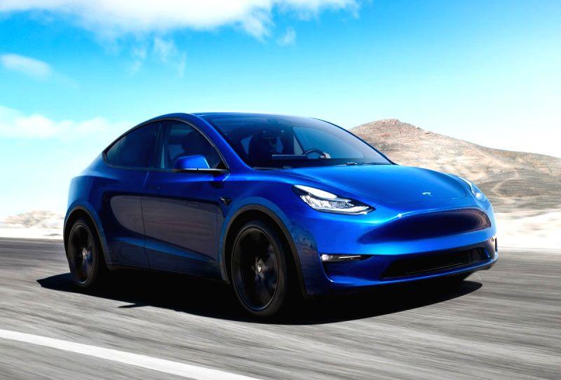 Tesla unveils Model Y.(Image Source: Twitter/@Tesla)