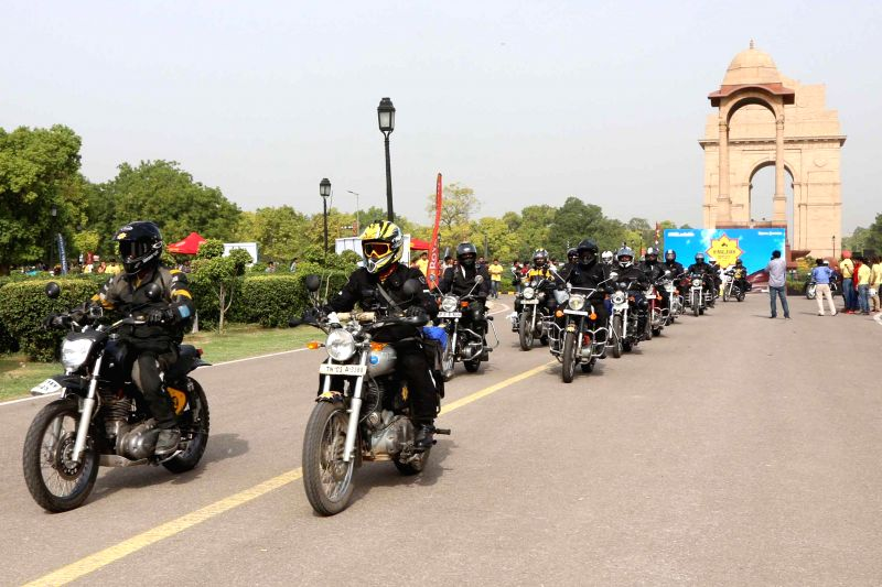 The 11th Royal Enfield Himalayan Odyssey flagged off from India Gate, New Delhi on June 21, 2014.