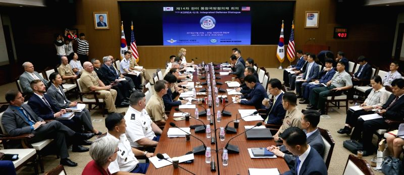 The 14th Korea-U.S. Integrated Defense Dialogue (KIDD) is under way at the Defense Ministry in Seoul on July 25, 2018.