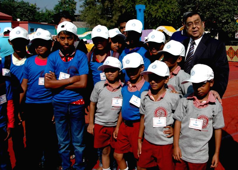 The 39th chief justice of India Altamas Kabir during a programme organised to celebrate Annual Children`s Treat in Kolkata, on Nov 20, 2015.