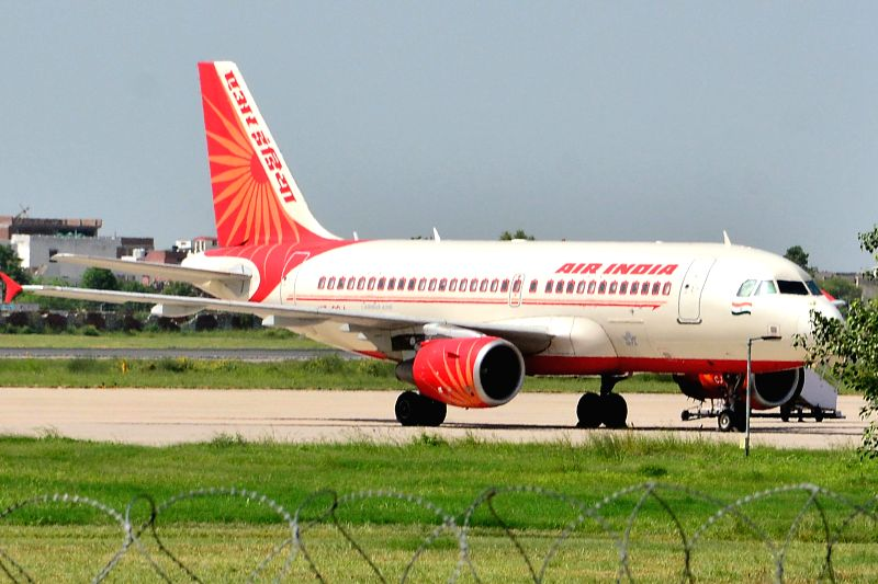 The Ahmedabad bound Air India aeroplane, which had to make an emergency landing in Jaipur on Aug 22, 2014. The flight had left Delhi with 144 passenger.
