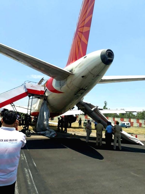 The Air India aircraft passengers of which had a providential escape when the tyres of the aircraft burst on landing at the Jammu airport on June 9, 2017.