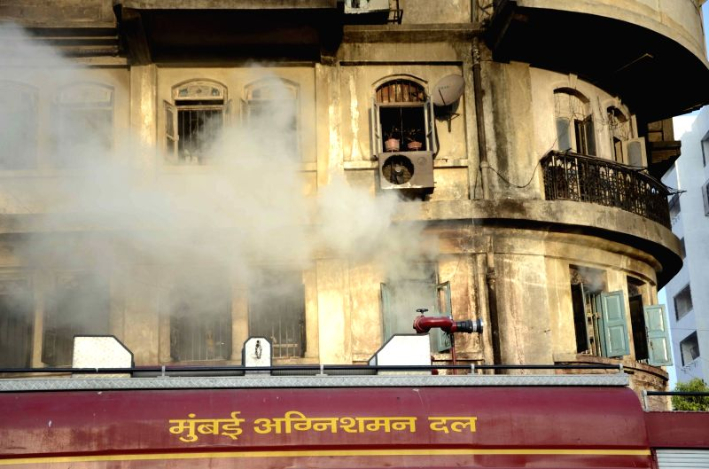 The Amar Umar building where a major fire broke out in Dadar of Mumbai on Nov 20, 2015.