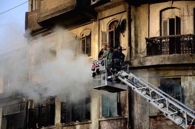 The Amar Umar building where a major fire broke out in Dadar of Mumbai on Nov 20, 2015.