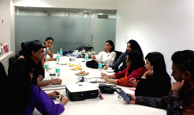 "The ""Angry Indian Goddesses"" team at IANS office in New Delhi on Dec 2, 2015."