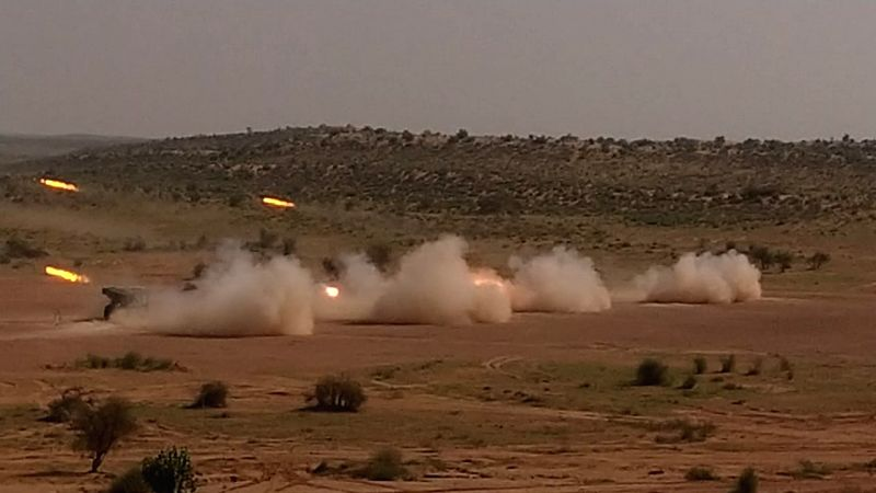 The Army on Monday carried out a fire power exercise in Desert Sector showcasing its capabilities, proficiency and operational preparedness, confirmed Col Sombit Ghosh, PRO, Defence, Rajasthan. The tactical exercise involved integrated employment and