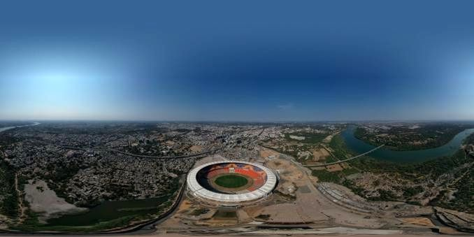 The BCCI on Tuesday shared a bird's eye view of the picturesque Motera Stadium, which is the world's largest cricket stadium. US President Donald Trump is expected to inaugurate the stadium. Gujarat Chief Minister Vijay Rupani visited the Motera stad