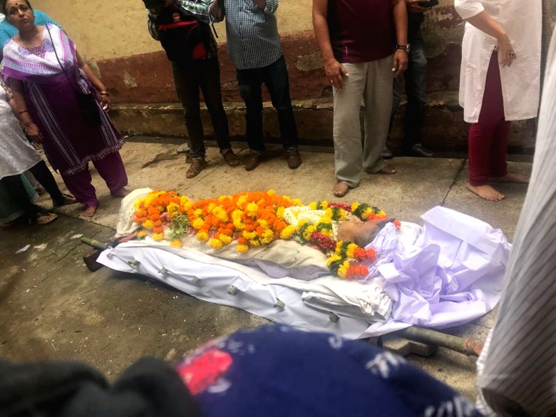 The body of Veteran actress Rita Bhaduri who passed away at the age of 62, at the Sujay Hospital in Mumbai's Vile Parle on July 17, 2018. She was fighting a weak kidney and was on dialysis. - Rita Bhaduri