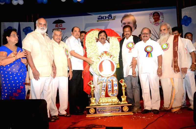 The celebrations of film producer Dasari Narayana Rao's 70th birthday in Hyderabad on May 4, 2014.