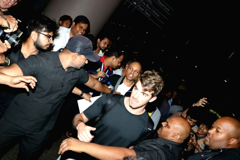 """The Chainsmokers Artists Andrew Taggart arrives at Mumbai Airport for his """"Indian leg of ULTRA Worldwide"""" in Mumbai and Delhi, on September 7 and 8."""
