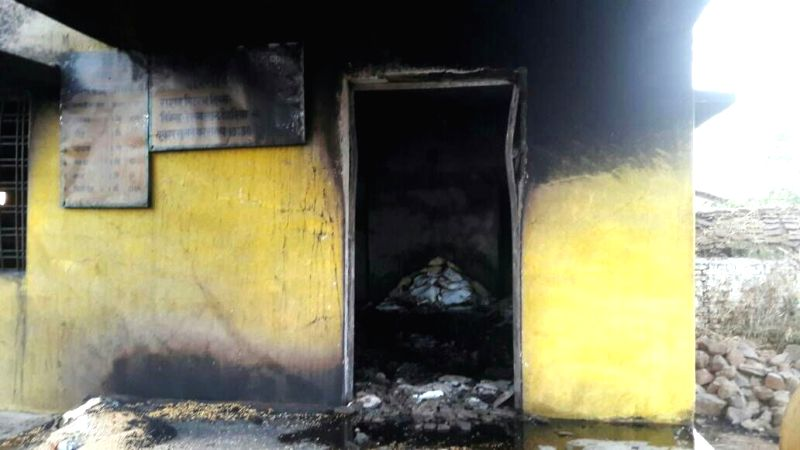 The cooperative society where a fire broke out killing 13 persons in Chhindwara district of Madhya Pradesh on April 22, 2017. The kerosene stored in the premises caught fire, leading to ...