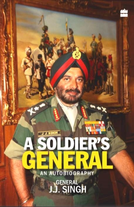 The cover of General JJ Singh's autobiography published by Harper Collins.