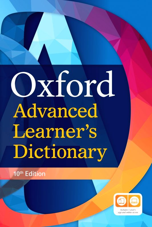 The cover of the Oxford Advanced Learners Dictionary.