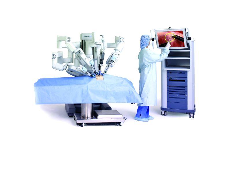 The da Vinci robotic surgical system.