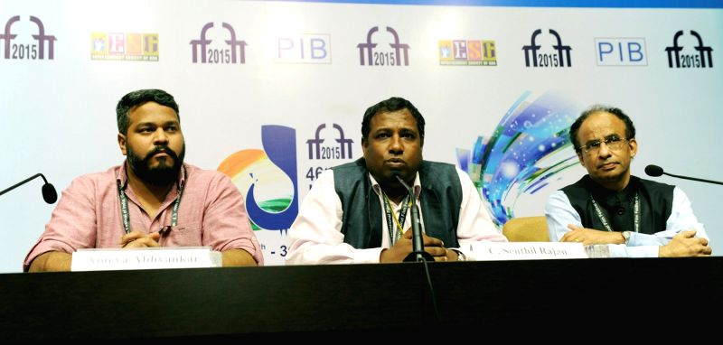 The Director, DFF, C. Senthil Rajan addresses a press conference, at the 46th International Film Festival of India (IFFI-2015), in Panaji, Goa on Nov 25, 2015.