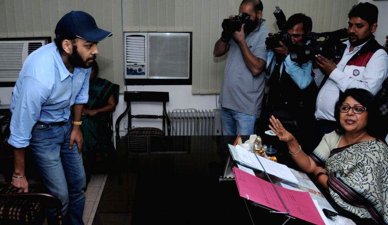 The director of global taxi company Uber (Delhi and national capital region) Gagan Bhatia arrives at the office of the chairperson of Delhi Commission for Women to appear before the commission in ...