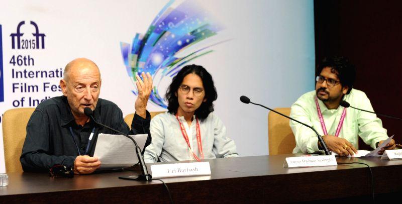 The Directors, Uri Barbash (Israel) and Angga Dwimas Sasongko (Indonesia) at a press conference, during the 46th International Film Festival of India (IFFI-2015), in Panaji, Goa on Nov 27, ...