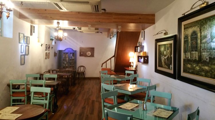 The English country-style Willow Cafe interiors