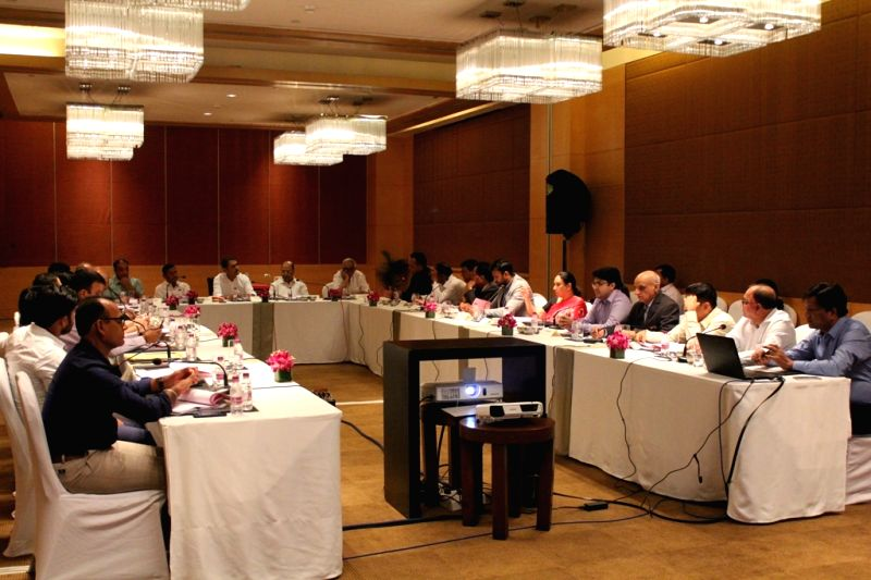 The Executive Committee Meeting of All India Football Federation (AIFF) underway, in Mumbai on July 22, 2018.