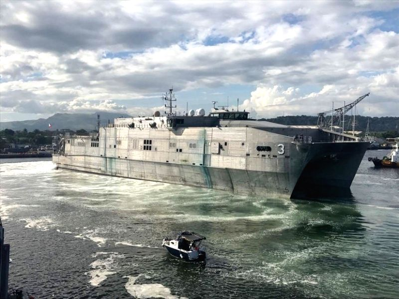The expeditionary fast transport ship, USNS Millinocket, is participating in a weeklong joint United States-Sri Lanka naval exercise that started April 19, 2019