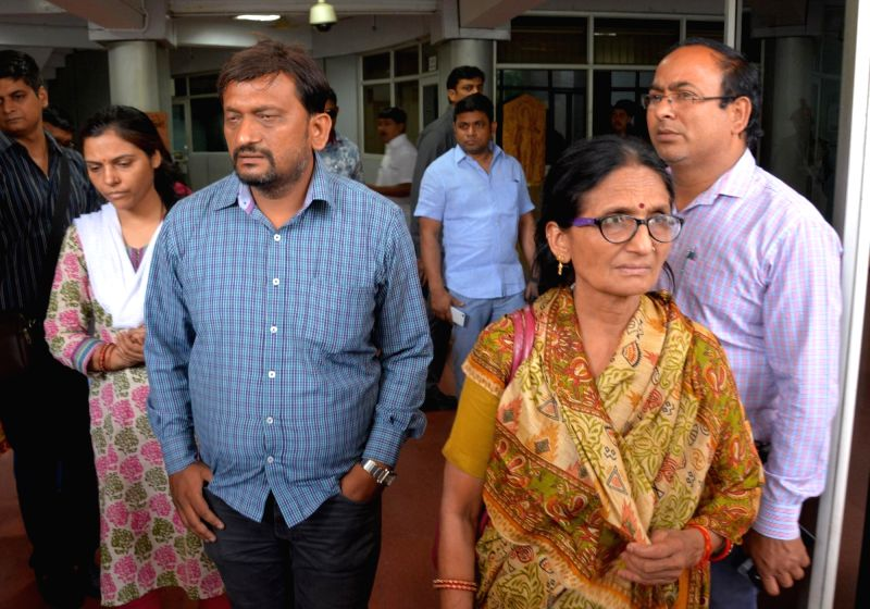 The family members of Karnataka cadre IAS officer Anurag Tiwari, who was found dead under mysterious circumstances in the Lucknow last week, arrive to meet Uttar Pradesh Chief Minister Yogi ... - Yogi Adityanath