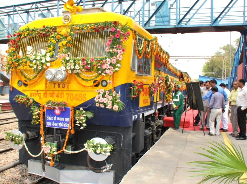 The first Dual Cab Freight Diesel Locomotive with Vacuum Toilet and Safety Interlocks being flagged off by the Union Minister for Railways Suresh Prabhakar Prabhu, in New Delhi on May 6, ... - Suresh Prabhakar Prabhu