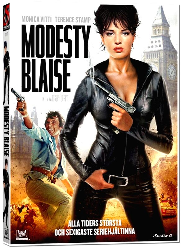 The first Modesty Blaise film, starring Italian actress Monica Vitti as the action heroine - Monica Vitti