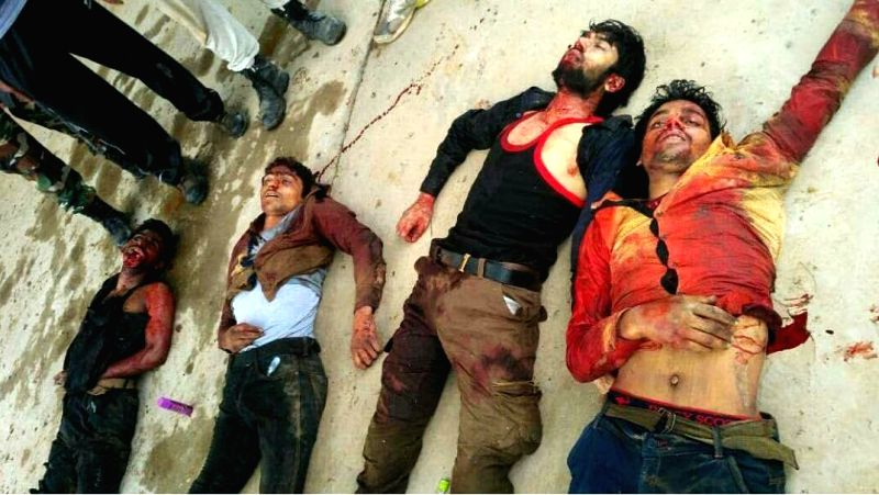 The four `Fidayeen` militants who were killed in an attack on a Central Reserve Police Force (CRPF) camp in north Kashmir's Bandipora district on June 5, 2017.