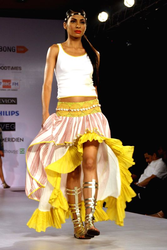 The grand Finale of Jabong Online Fashion Week, in New Delhi on July 3014. (Photo : Amlan Paliwal/IANS)