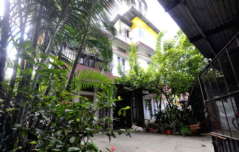 The house of singer Sadananda Gogoi's house at Hengerabari, Guwahati which was raided by CBI officials in connection with multi-crore Sharadha scam on Aug 28, 2014.