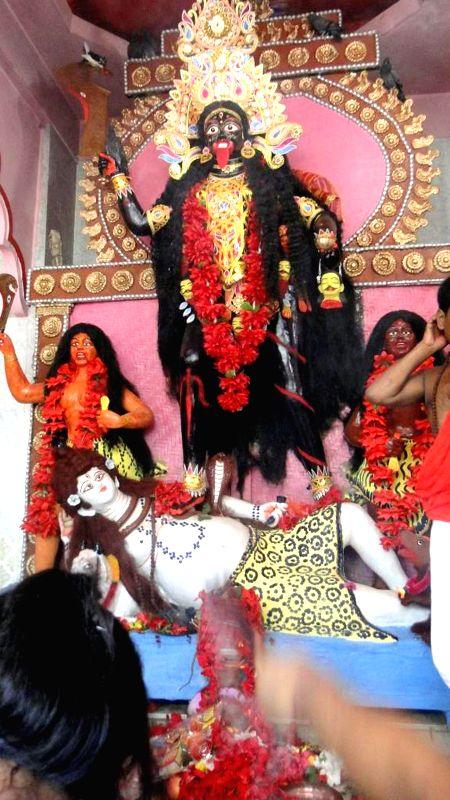 The idol of Charantala Kali at at Babedpara in West Garo Hills about 50 km from Tura of Meghalaya during the annual Charantala Kali Puja on April 22, 2014.