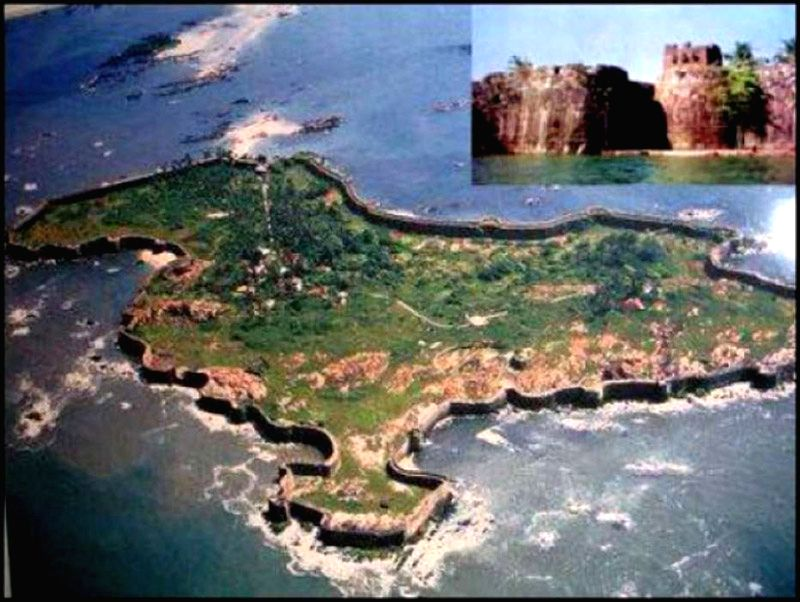 Sindhudurg Fort - aerial view