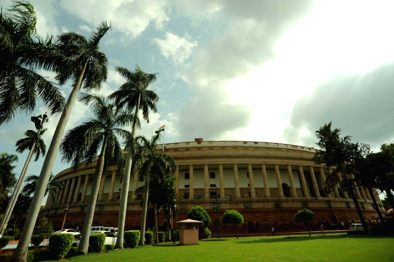 The Indian Parliament, New Delhi on Aug 14, 2014.