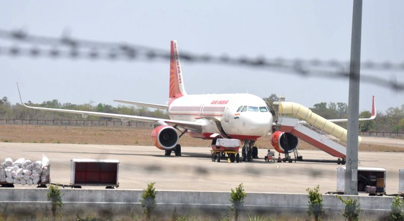 The Kochi bound Air India aircraft that made emergency landing at Bhopal airport due a technical problem on May 10, 2016.