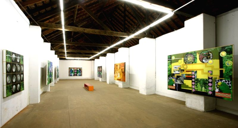 : The Kochi-Muziris Biennale art gallery in Kerela. (Photo: IANS).