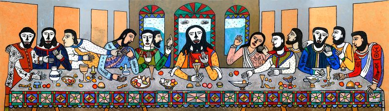 "The Last Supper"" by Madhavi Parekh."