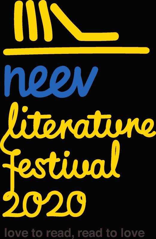 The logo of the Neev Literature Festival.