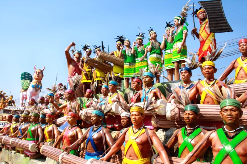 The Meghalaya tableaux at the press preview of tableaux participating in Republic Day Parade.