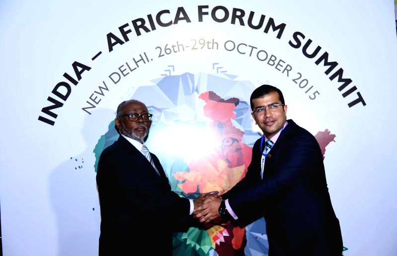 The Minister of External Relations of the Republic of Cameroon, Mbella Mbella arrives in New Delhi for the 3rd India Africa Forum, on Oct 27, 2015.