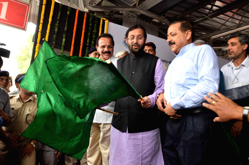The Minister of State for Information and Broadcasting (Independent Charge), Environment, Forest and Climate Change (Independent Charge) and Parliamentary Affairs, Prakash Javadekar along with the ... - Office and Jitendra Singh
