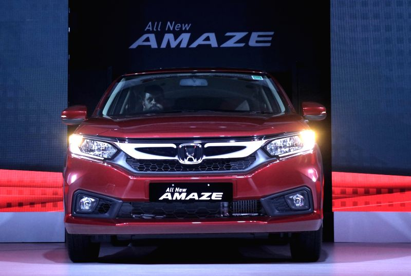 The new launched Honda Amaze at a launch programme in New Delhi on May 16, 2018.