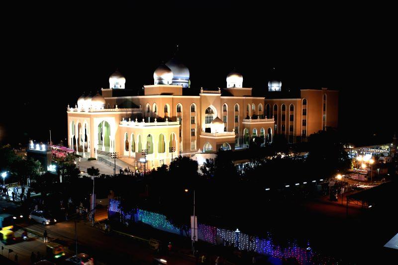 The newly inaugurated Haj Bhavan at Tirumenahalli, Hegde Nagar, in Bengaluru on July 31, 2018.