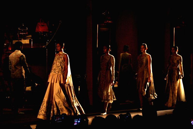 The opening show by Sabyasachi at India Couture Week 2014, in New Delhi on July 15, 2014.