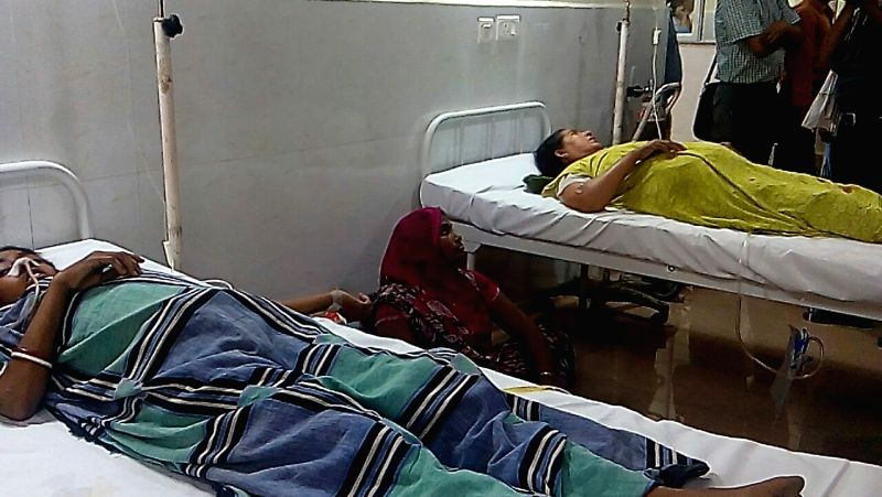 The patients who got injured during the blast in the emergency ward of Sir Sunderlal Hospital being treated at Banaras Hindu University in Varanasi on May 7, 2016. At least 12 patients and ...