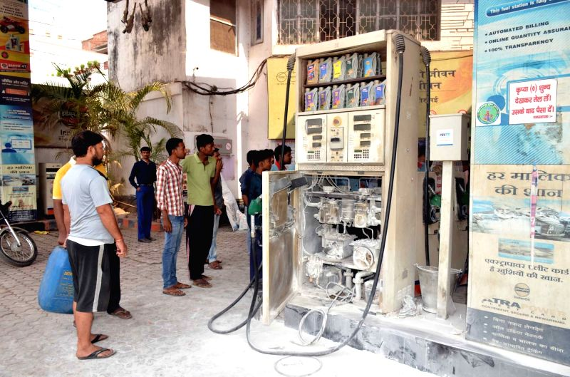 The petrol pump where a fire broke out in Patna on May 4, 2017.
