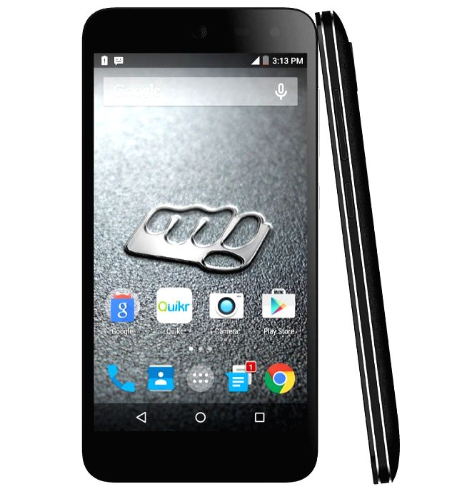 The picture shows the recently launched Micromax Canvas 4G Nitro priced at Rs.12,499.