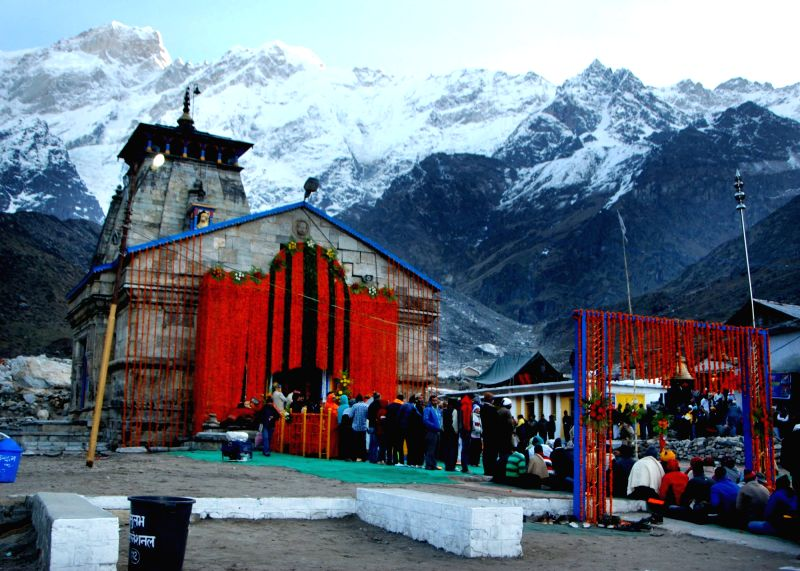 The portals of Kedarnath shrine thrown open on May 9, 2016.