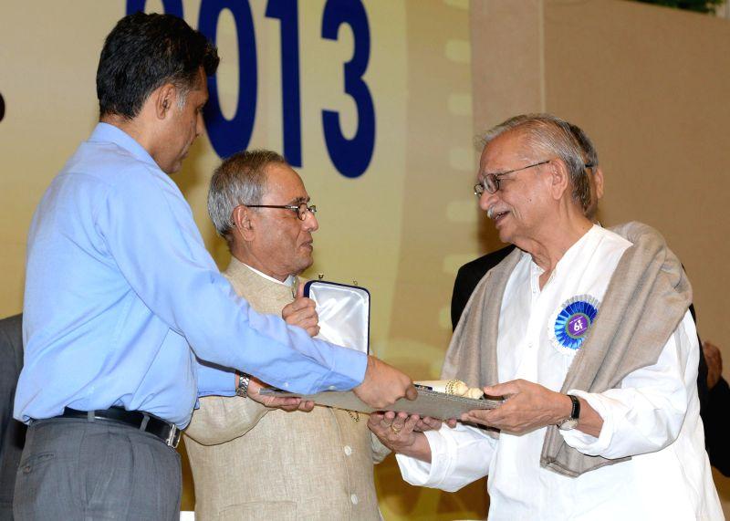 The President of India, Pranab Mukherjee presenting the National Film Awards including Dada Saheb Phalke Award at Vigyan Bhavan in New Delhi on May 3, 2014. - Pranab Mukherjee