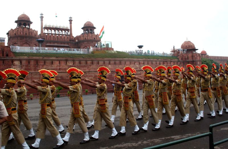 The rehearsal for Independence Day at Red Fort