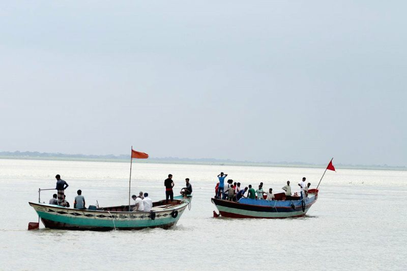 The rescue operation for Pinak-6 - a launch that had capsized in Padma river near Mawa, Bangladesh on 4th Aug, 2014 continues on Aug 10, 2014.